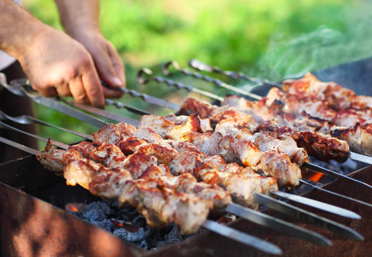Шашлык из свинины с болгарским перцем