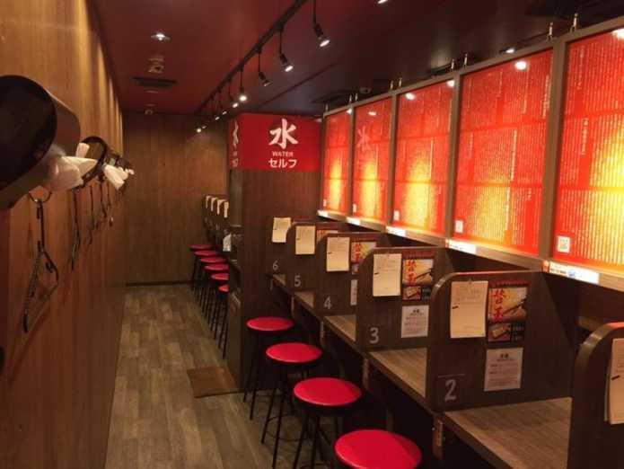 Японский ресторан Ichiran Ramen - рай для интровертов
