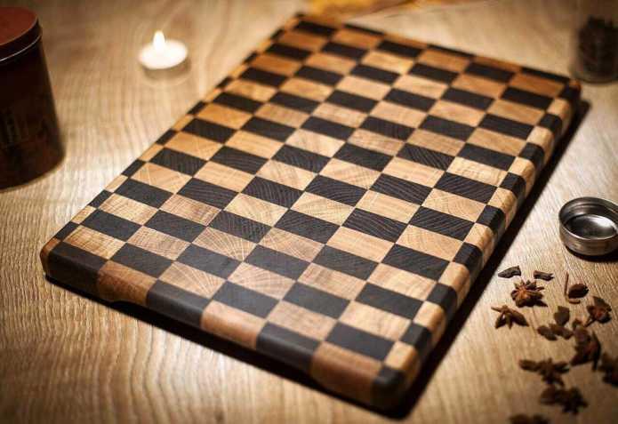 Торцевая разделочная доска Pure Chess от Shtaiger
