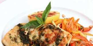 Рыба, запеченная в духовке с итальянским соусом