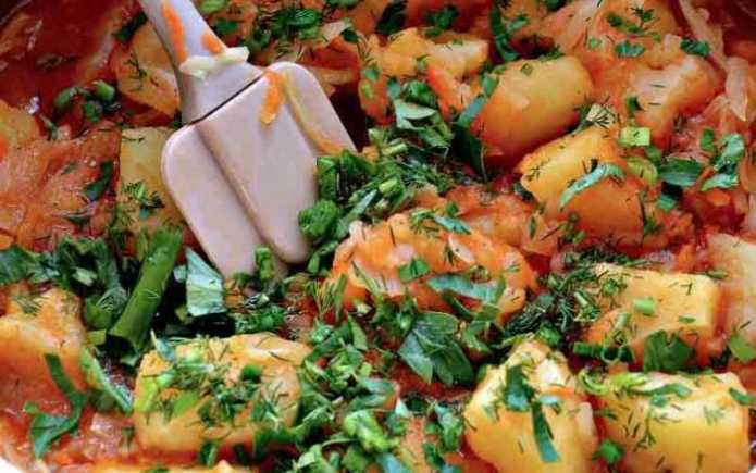 Топ-10 блюд на самоизоляции - Тушеный картофель