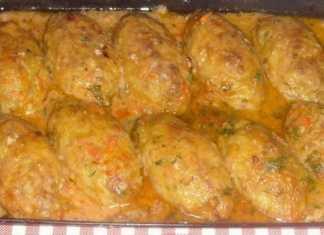 Ленивые голубцы из мясного фарша в томатном соусе