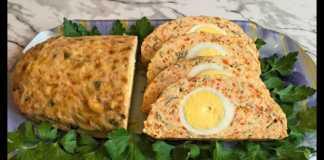 Куриный рулет с сыром и яйцом