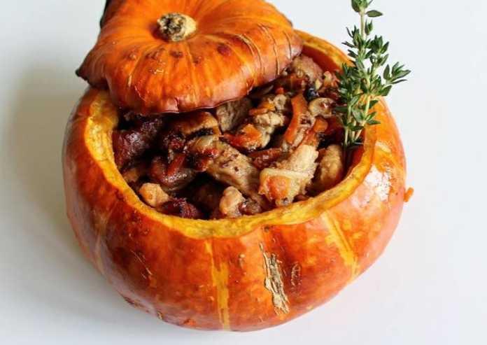Мясо в тыкве запеченное в духовке