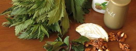 Телятина с крапивным соусом
